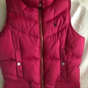 Old Navy Girls Hot Pink Puffer Vest